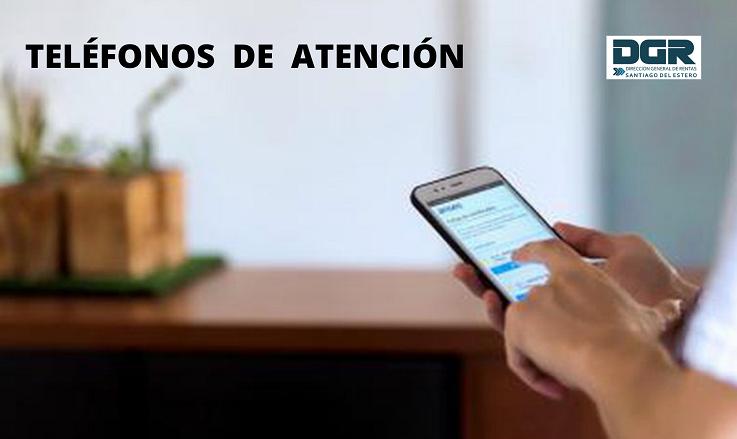Hacé clic aquí para conocer los teléfonos de consulta, de las distintas oficinas de la DGR.